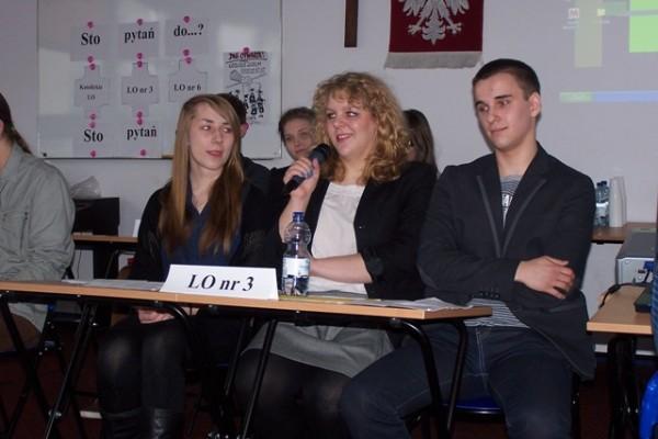 Weronika Żochowska, kl. I f, Hanna Piekarska, kl. III a, Kacper Zubrzycki, kl. II d