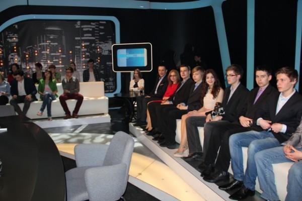 "W studiu programu TVP1 ""Świat się kręci"""