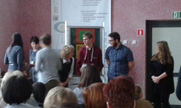 Nagrodę odbiera Daniel Demczuk