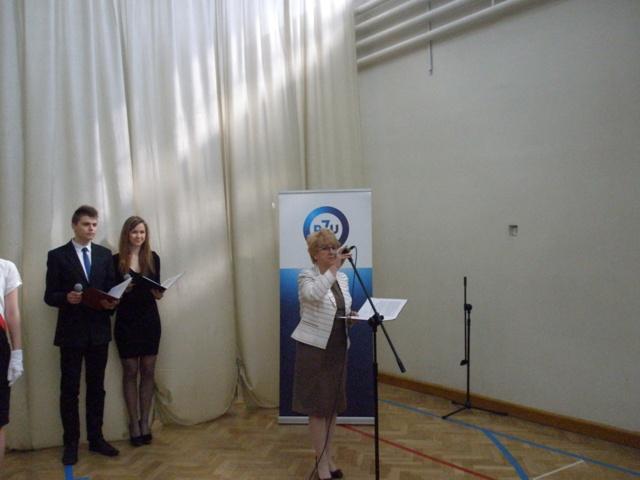 Pani Dyrektor Małgorzata Górniak rozpoczęła uroczystość
