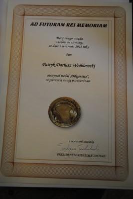 Dyplom Patryka Wróblewskiego