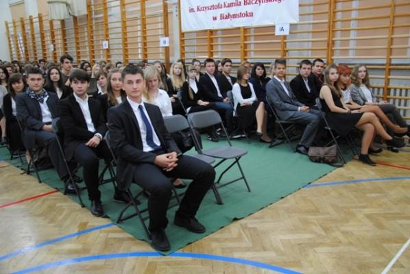 Uczniowie klas pierwszych