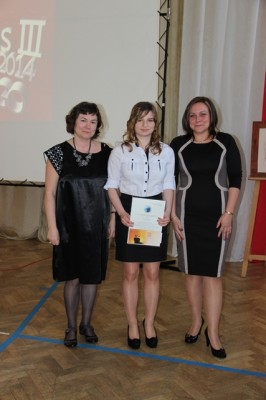 P. Maryla Boćkowska, Monika Żyłowska, kl. III b i p. Małgorzata Schroeder