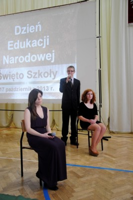 Aleksandra Czapkowska, kl. II g, Kacper Rzeńca, kl. II c, Sylwia Godlewska, kl. II g