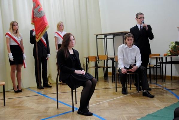 Joanna Koronkiewicz, kl. I c, Adrian Gramacki, kl. II b i Kacper Reńca, kl. II c