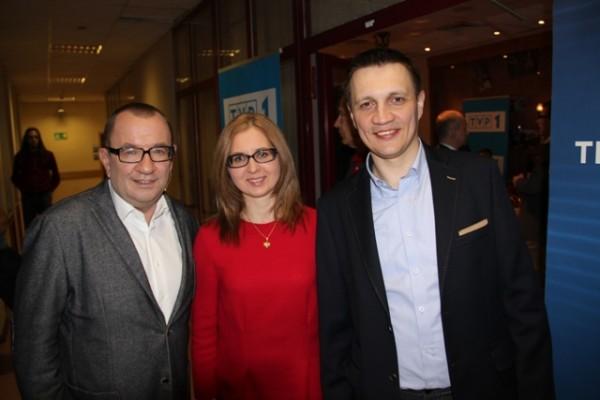 Rafał Bryndal, Aneta Klimiuk – nauczycielka j. niemieckiego i Marek Dudzicz – nauczyciel informatyki