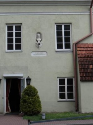 Dom J.Słowackiego- w jedno z okien trafił piorun, który poraził śmiertelnie A. Becu