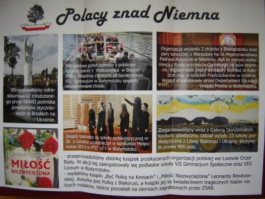 Informacje o działalności Fundacji Polacy znad Niemna