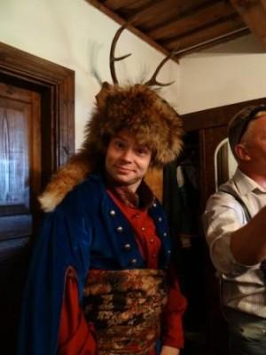 Jarek Daciuk z kl. II H jako Soplica- gospodarz Zaosia na nowogródczyźnie