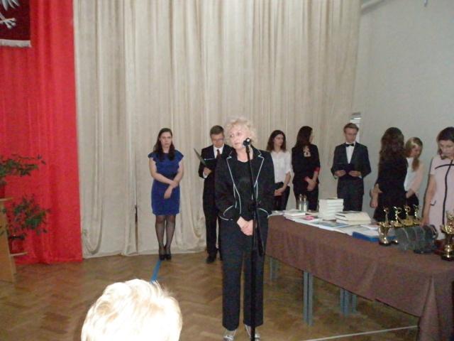 Przewodnicząca Rady Rodziców przy III LO Małgorzata Tylutki