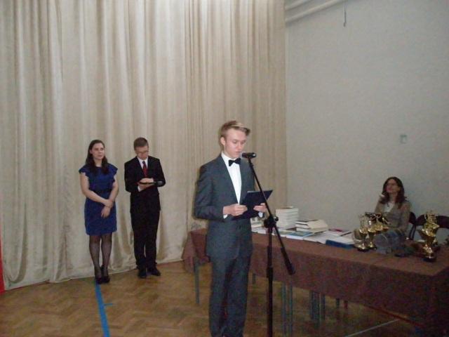 Przewodniczący Samorządu Uczniowskiego Mateusz Zarzecki z klasy I e