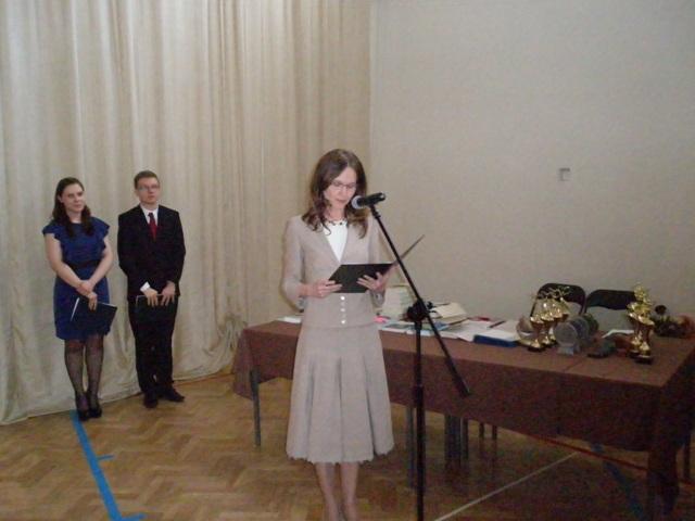 W imieniu wychowawców klas trzecich głos zabrała pani Joanna Perkowska