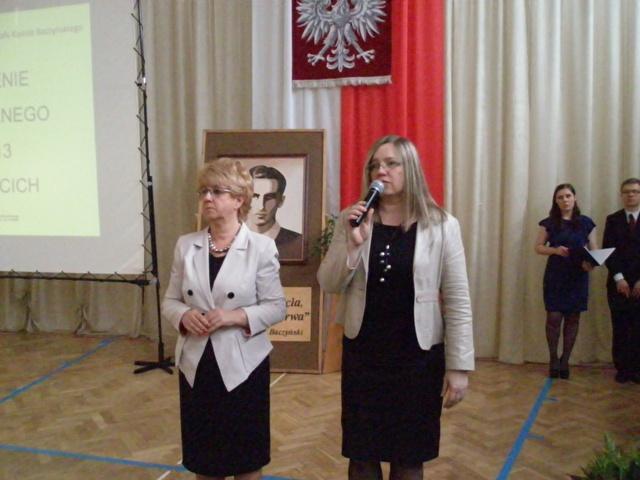 Pani Dyrektor Małgorzata Górnika i Pani wicedyrektor Ewa Zaniewska informują o przebiegu egzaminów maturalnych 2013