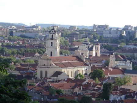 Panorama Wilna z góry Trzech Krzyży