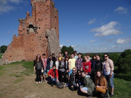 Ruiny zamku Mendoga w Nowogródku- kl. II A z wychowawcą