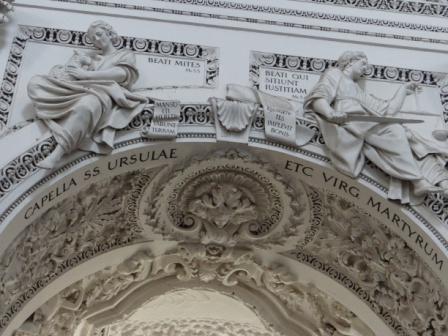 Stiukowe detale w kaplicy  św. Urszuli (kościół św. Piotra i Pawła)