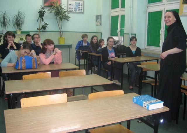Uczniowie z klasy I c