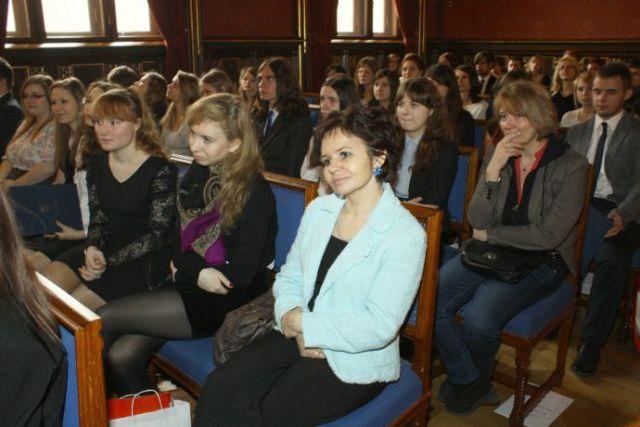 W oczekiwaniu na rozdanie indeksów w Auli Collegium Novum UJ w Krakowie 5.04.2013r