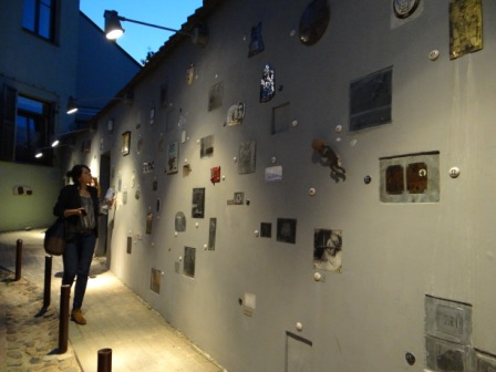 Zaułek literacki w Wilnie